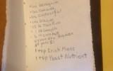 IPA recipe in a brewer's notebook.